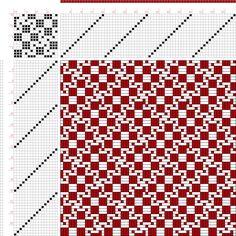 draft image: Figure 898, A Handbook of Weaves by G. H. Oelsner, 16S, 16T