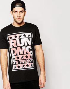 ASOS Longline T-Shirt With Run DMC It's Tricky print