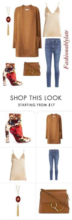 """""""Untitled #1079"""" by fashionablylateky ❤ liked on Polyvore featuring Christian Louboutin, L.K.Bennett, Raey, Citizens of Humanity and 14th & Union"""