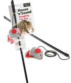Mouse 'n' Squeak Dangler + Catnip Drives Cats mad with realistic squeaking sound #SharplesnGrant