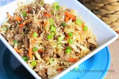 Eggroll in a Bowl | If you like egg rolls, you need to make this homemade Chinese food recipe! It's just so much easier to make than regular egg rolls.