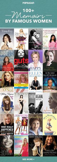 """100+ Memoirs by Famous Women"" - via Library Geek"