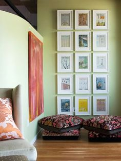 Ideas for decorating rooms with tall walls