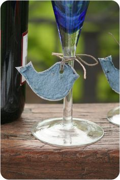 10 Rustic Plantable Tags Or Wedding Favors BIRD Made by GreenPost, $12.50