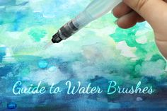 Includes discussion of using water brushes with watercolors, watercolor pens… Watercolor Pencil Art, Watercolor Brushes, Watercolour Tutorials, Watercolor Techniques, Watercolour Painting, Painting Techniques, Painting Lessons, Art Lessons, Water Brush