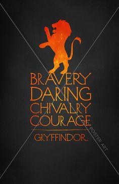 Harry Potter Gryffindor 11x17 Movie Poster Art by MyPosterArt