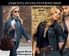 O jeans escuro continua na moda, ainda mais nas jaquetas do inverno 2013! As celebridades já aderiram, conheça o modelo Fargaz e adote essa tentência!