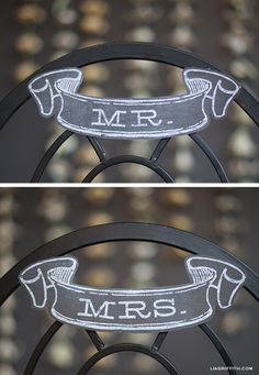 Mr and Mrs Chalkboard Banner (free printable)