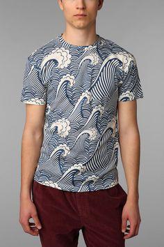 8df89906f09fb4 The Rise And Fall Allover Waves Tee. Fashion TrendsMens FashionFashion  IdeasCool T ShirtsMen s ...