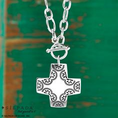 Toggle-clasp cross necklace | #Silpada #WomensFashion