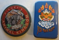 Walt Disney Animal Kingdom Park Pinback Button Lot of 2 Attraction 2000
