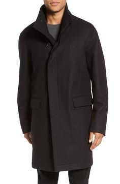 VINCE Raw Edge Wool Blend Military Coat. #vince #cloth #
