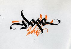 Calligraphi.ca — Dope shit. Pilot Parallel Pen 6.0 on paper — Sergey Shapiro: