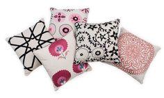 Pink Gemma - Madeline Weinrib - Suzani - Pillows