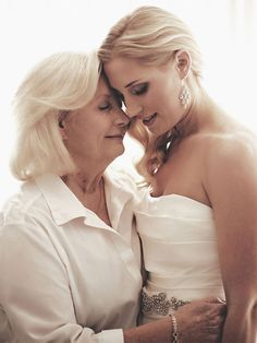 Mother Daughter Wedding Photo - Mother of the Bride Photo Mother Daughter Wedding, Mother Daughter Photos, Mother Of The Bride, Mom Daughter, Daughters, Wedding Fotos, Wedding Pictures, Wedding Bride, Dream Wedding