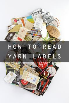 How to read yarn labels - an easy guide to understanding what each symbol means for your knitting projects