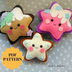 Sewing Toys Felt Gingerbread cookie pattern Christmas ornaments Gingerbread star felt pattern PDF Gingerbread star sewing pattern for Christmas tree toy - Felt Crafts Patterns, Felt Crafts Diy, Easy Sewing Patterns, Felt Diy, Christmas Tree Star, Felt Christmas Ornaments, Sewing Toys, Felt Dolls, How To Make Ornaments