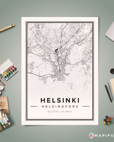 Helsinki Mapiful Poster