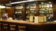La barra del café del Hotel Castelar, donde se hospedó Federico García Lorca en su estadía en Buenos Aires.