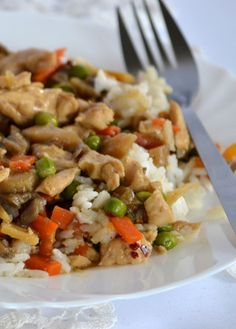 Light Recipes, Fried Rice, Chicken Recipes, Healthy Lifestyle, Chinese, Ethnic Recipes, Food, Diet, Essen