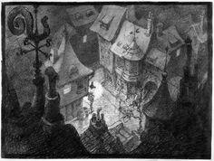 Pinocchio production artwork.