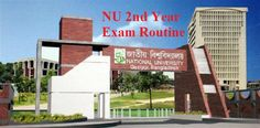 National university bd Honours 2nd Year Exam Routine 2015