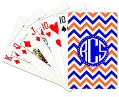 Monogrammed Playing Cards by Gameday Girl Designs SWAMP CHOMP Gator Nation UF Florida Gators