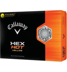 Callaway Logo HEX Hot (Yellow) Golf Balls