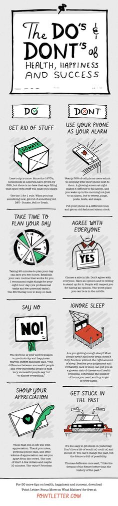 50 Do's and Don'ts of Health, Happiness and Success (Infographic)