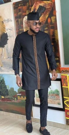 Latest African Wear For Men, African Shirts For Men, African Dresses Men, African Attire For Men, African Clothing For Men, Nigerian Men Fashion, African Men Fashion, Latest African Fashion Dresses, Mens Traditional Wear