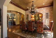 Dining old world,tuscan,mediterranean,spanish decor Design Ideas, Pictures, Remodel and Decor