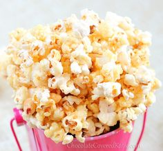 Healthy Caramel Popcorn! Make it under 10 minutes and eat as much as you want.