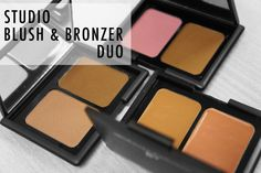 Swatches poudres studio blush & bronzer duo : Blushed & Bronzed (83601), Antigua (83602), Turks & Caicos (83603)