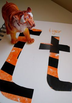 T is for Tiger Letter Learning from @MakeDoAndFriend