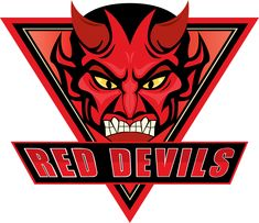 Salford Red Devils Primary Logo on Chris Creamer's Sports Logos Page - SportsLogos. A virtual museum of sports logos, uniforms and historical items. Sports Team Logos, Rugby League, Adult Coloring, Nhl, Devil, Embroidery Files, Caps Hats, Halloween Sale, Towels