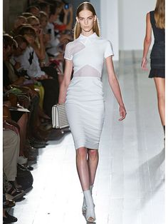 The All-White Slice & Dice - Victoria Beckham.  Would really love to own this. #NYFW