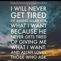 I'll never give up In Shaa Allah:) Put ur in Allah:)