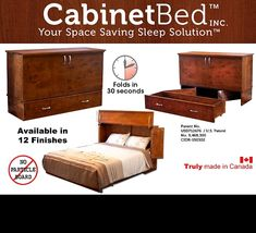 When you buy a CabinetBed - you can be entered to win a vacation cruise for 2 - read all the details here: Win A Vacation, Modern Murphy Beds, Sleep Solutions, Bed Wall, Particle Board, Your Space, Space Saving, Storage Chest, Cruise