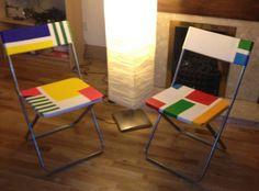 IKEA Jeff chairs a la Mondrian - I'll definitely do this!!