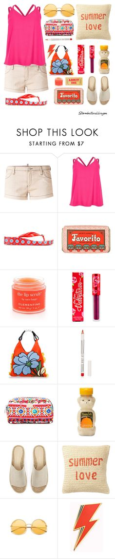 """""""Summer Love"""" by stormbattereddragon ❤ liked on Polyvore featuring Armani Jeans, River Island, Tory Burch, Claus Porto, Sara Happ, Lime Crime, Marni, Topshop, Dolce&Gabbana and Forever 21"""