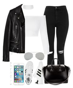 """""""Sem título #1012"""" by isacris-28 ❤ liked on Polyvore featuring Topshop, Yves Saint Laurent, adidas, Cornelia Webb, Givenchy and Acne Studios"""