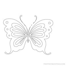 Free Cut Out Alphabet Stencils | Free Printable Butterfly Stencils | Free Printable Stencils Com
