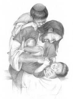 Precious Children Playing with their Awesome Savior, Protector, and Friend...the Lord Jesus Christ.