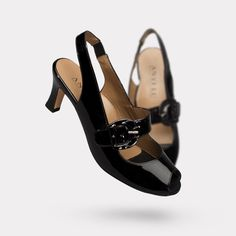 So 40s and very comfy.  These will look awesome under long, flared trousers.  ANYI LU | The Tulip - Black Patent | Pre-Fall Available Now