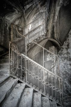 Abandoned, Staircase is beautiful..