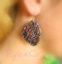 Earring Butterfly wings by RybaColnce on Etsy, $12.00