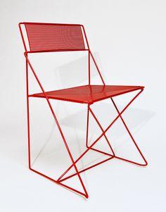 """hawktrainer: """" X-Line Chair Niels Joergen Haugesen, for Hybodan, 1977 Steel (20"""" x 18"""" x 31"""") (via X-LINE - Al Que Quiere) """""""