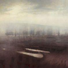 "Tania Rutland/ ""Shining Level"" 70cm x 70cm oil on canvas"