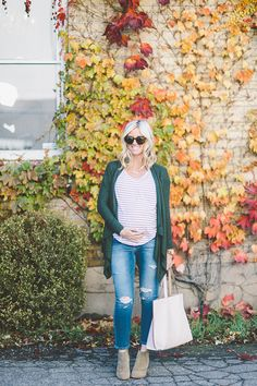 Best Combo for Comfy Maternity Layers - Little Miss Fearless