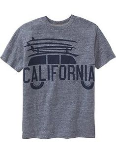 Boys Heathered Graphic Tees | Old Navy